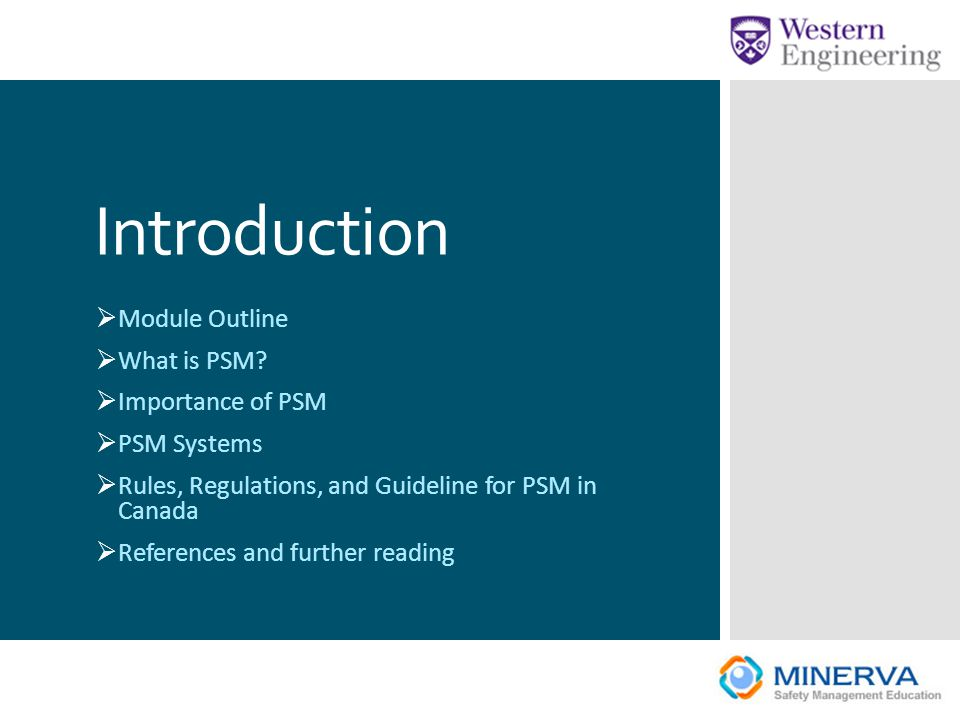 Introduction Module Outline What is PSM Importance of PSM PSM Systems