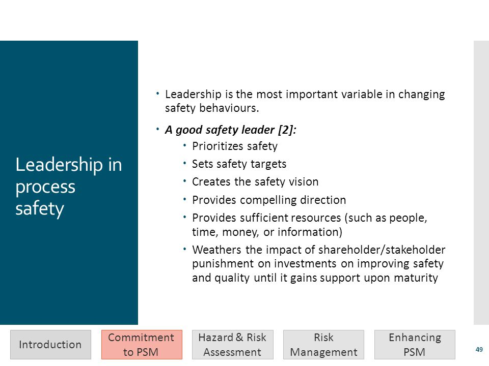 Leadership in process safety