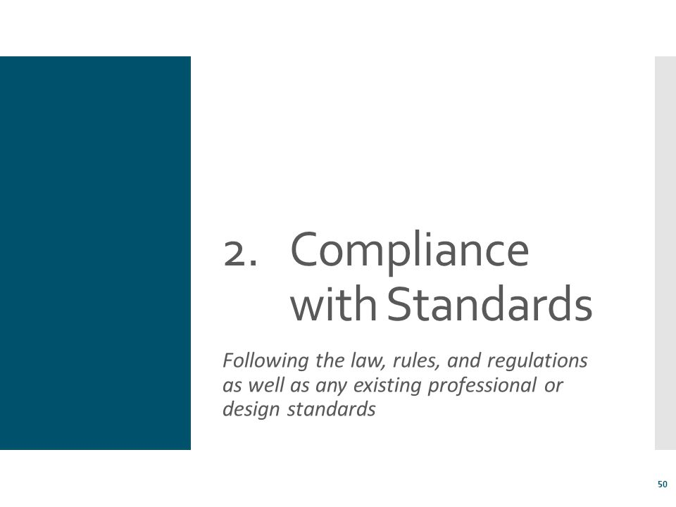 Compliance with Standards