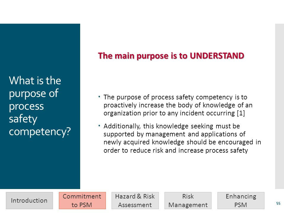 What is the purpose of process safety competency
