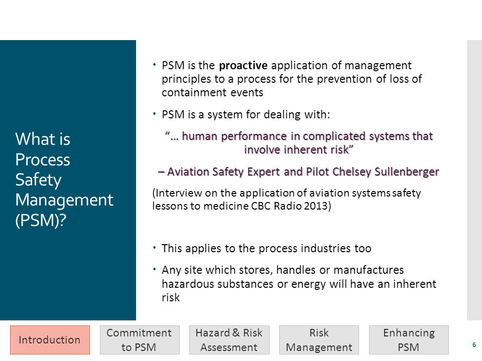 What is Process Safety Management (PSM)