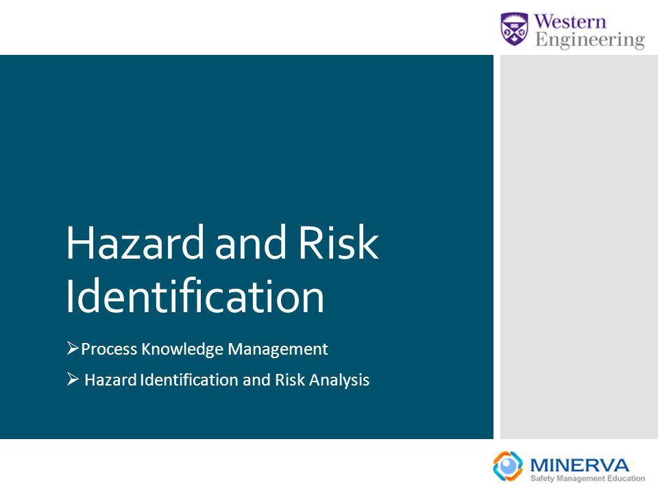 Hazard and Risk Identification