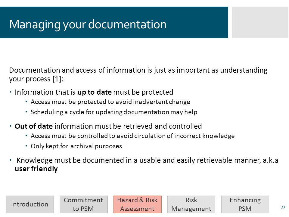 Managing your documentation