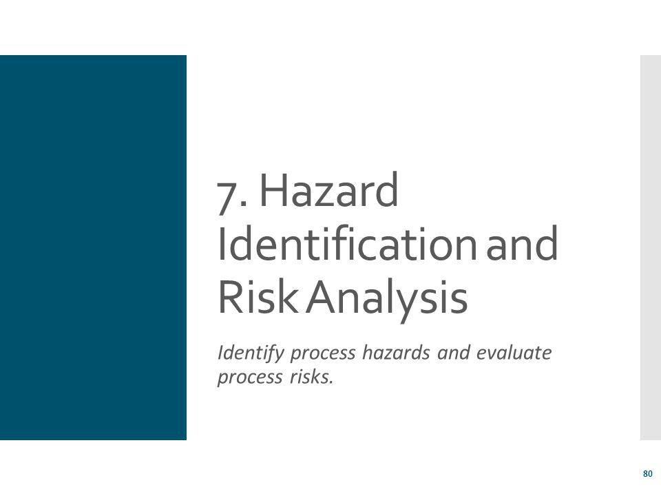 7. Hazard Identification and Risk Analysis