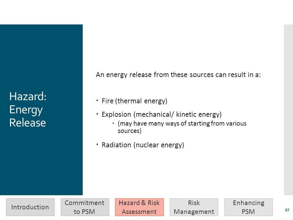 Hazard: Energy Release