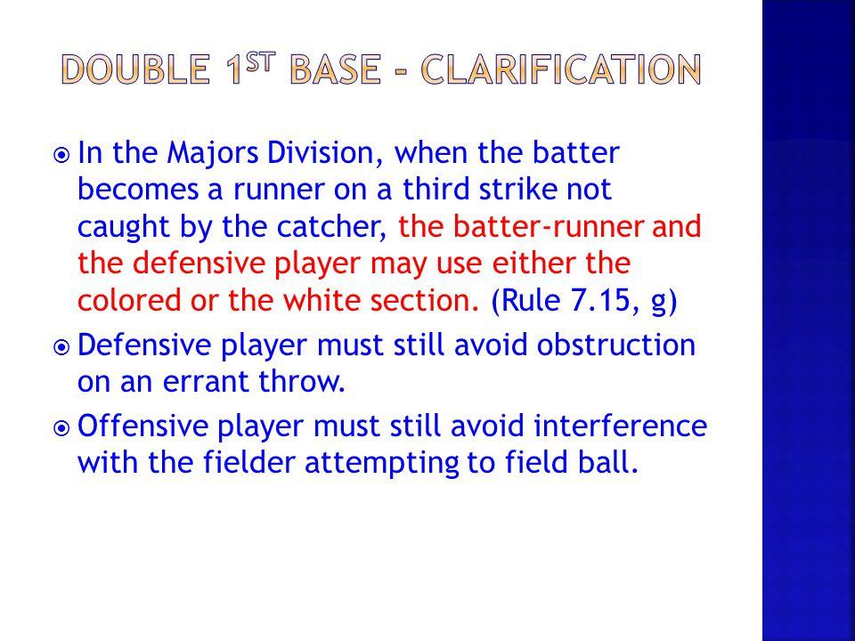 Double 1st base - clarification
