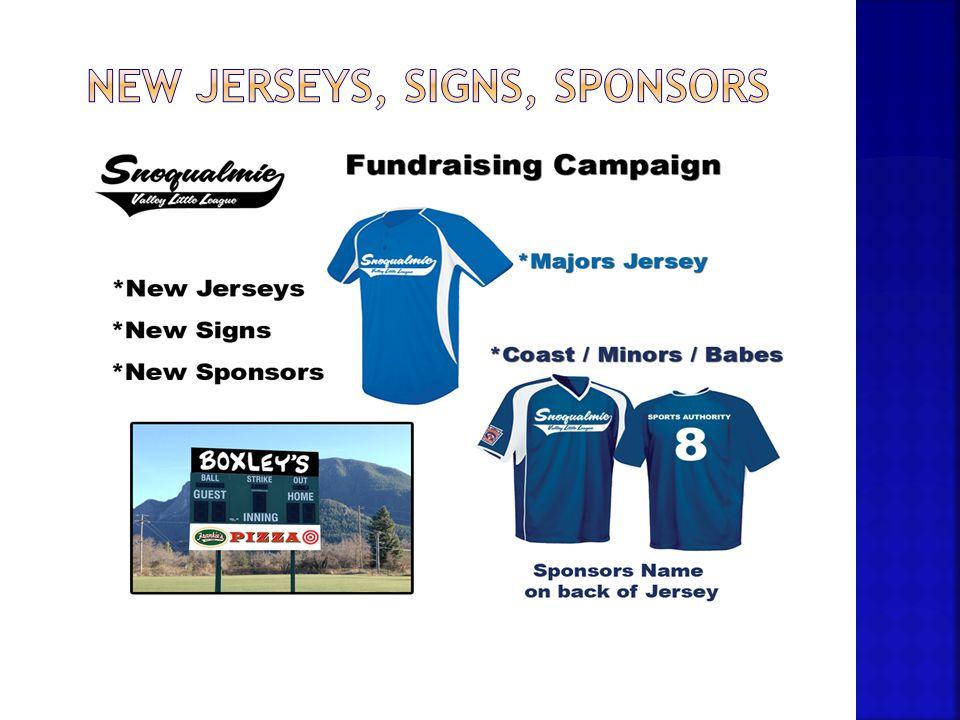New jerseys, signs, sponsors
