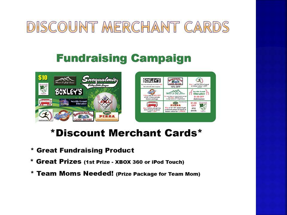 Discount merchant cards