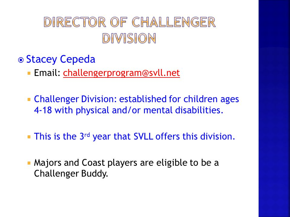 director of challenger division