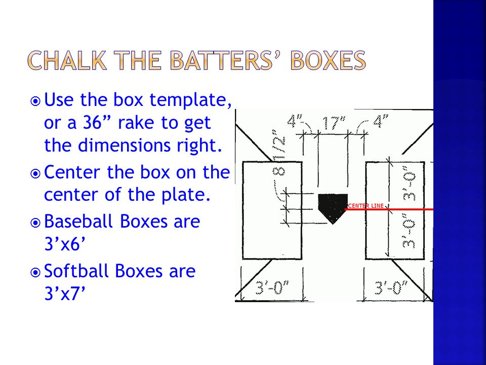Chalk the Batters' Boxes