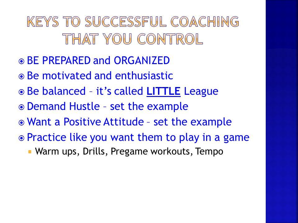 Keys to Successful Coaching That YOU Control