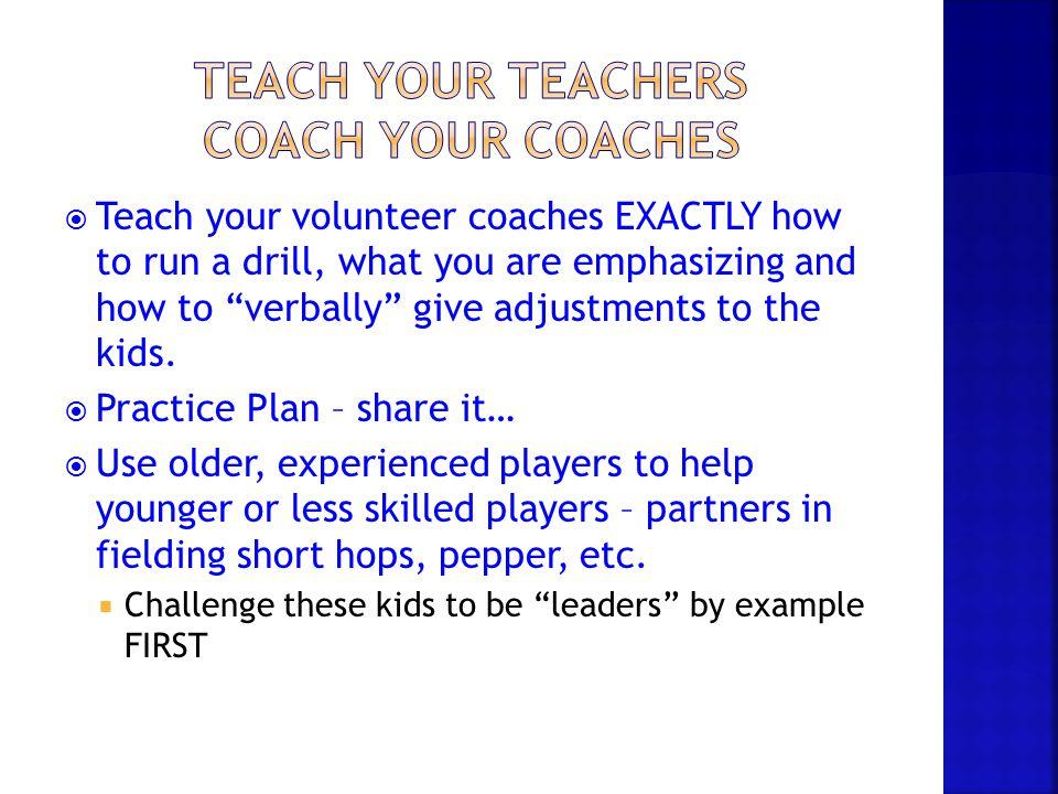 Teach Your Teachers Coach Your Coaches