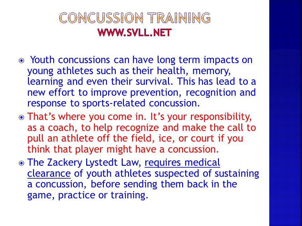 Concussion training www.svll.net