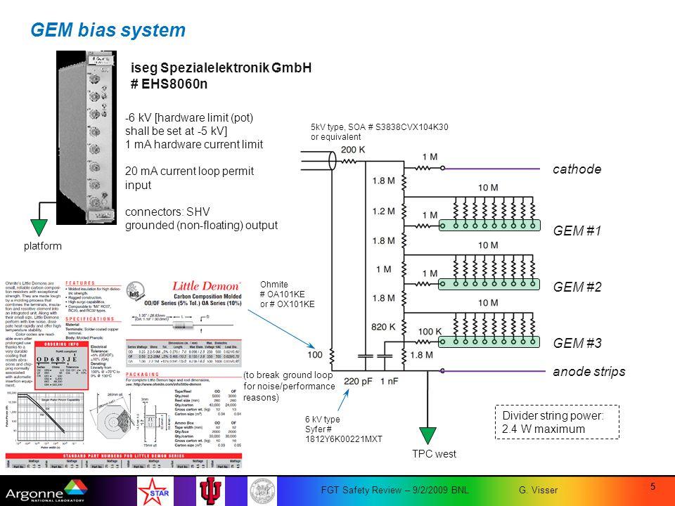 GEM bias system iseg Spezialelektronik GmbH # EHS8060n cathode GEM #1