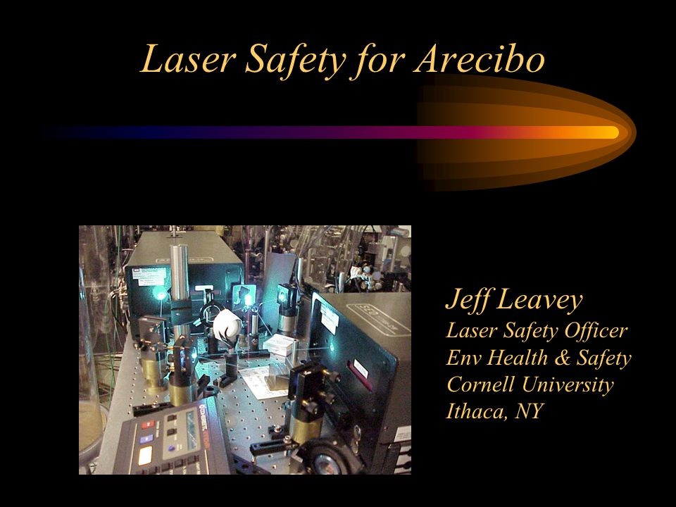 Laser Safety for Arecibo