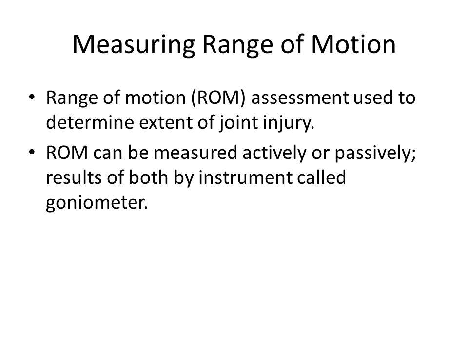 Measuring Range of Motion