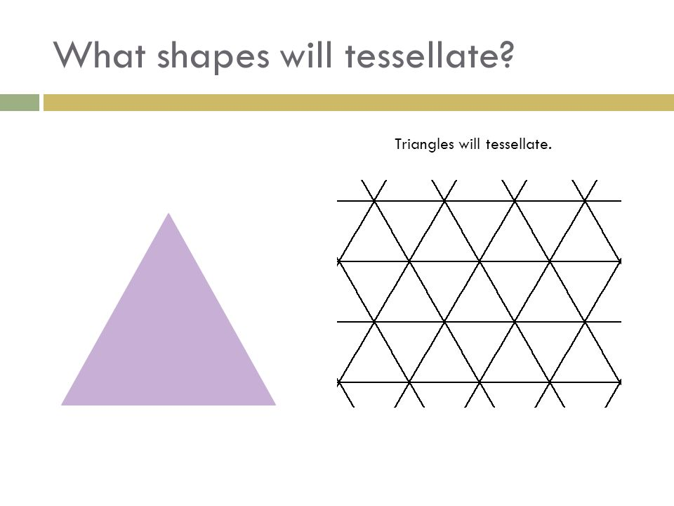 What shapes will tessellate