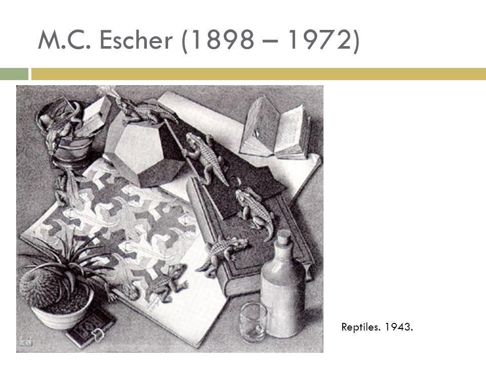 M.C. Escher (1898 – 1972) Reptiles. 1943.