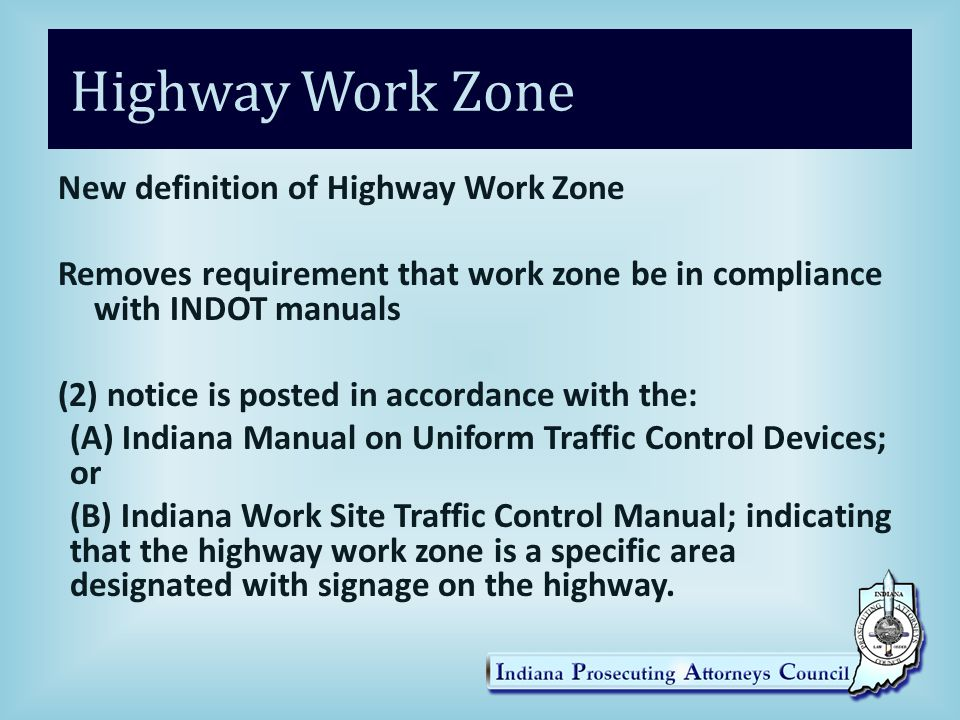 Highway Work Zone