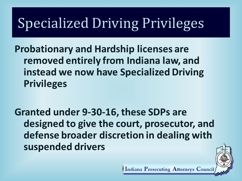 Specialized Driving Privileges