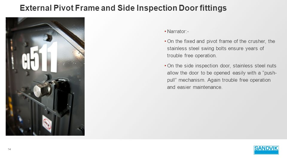 External Pivot Frame and Side Inspection Door fittings