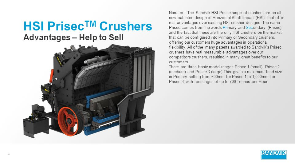HSI PrisecTM Crushers Advantages – Help to Sell