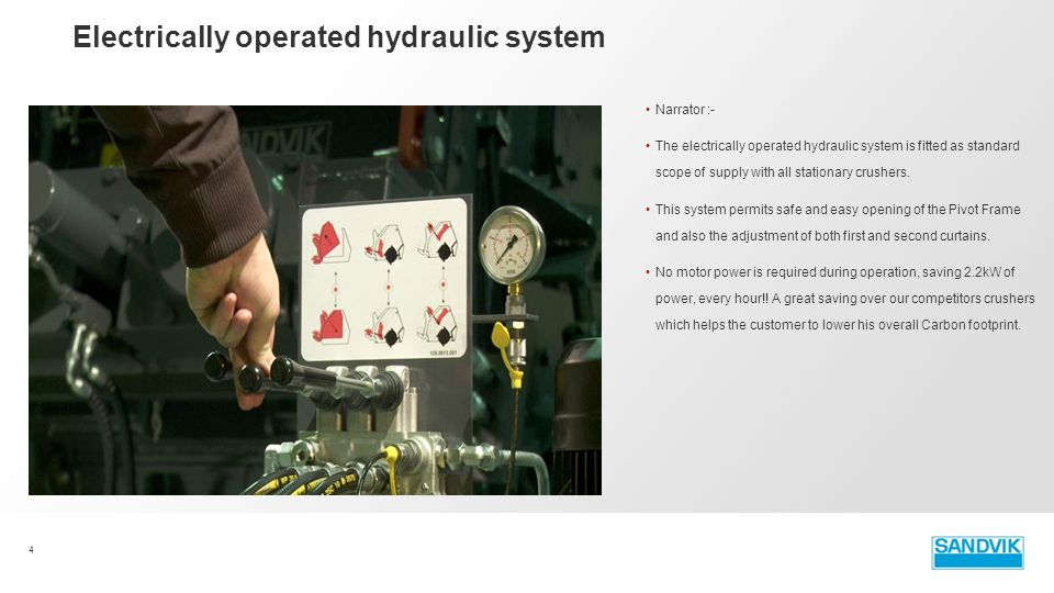 Electrically operated hydraulic system