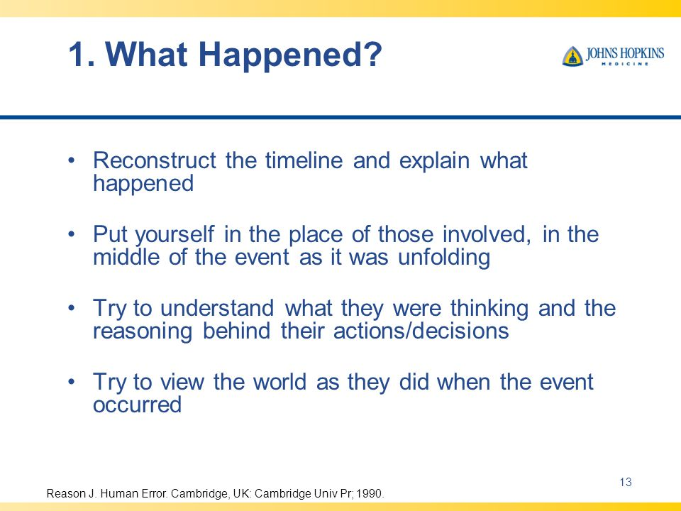 1. What Happened Reconstruct the timeline and explain what happened