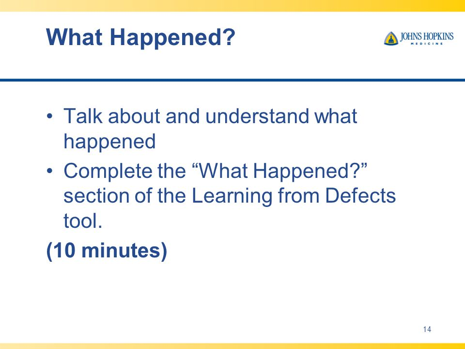 What Happened Talk about and understand what happened