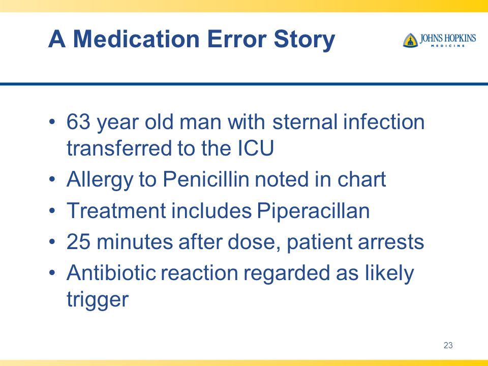 A Medication Error Story
