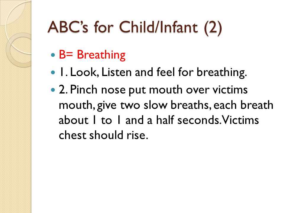 ABC's for Child/Infant (2)