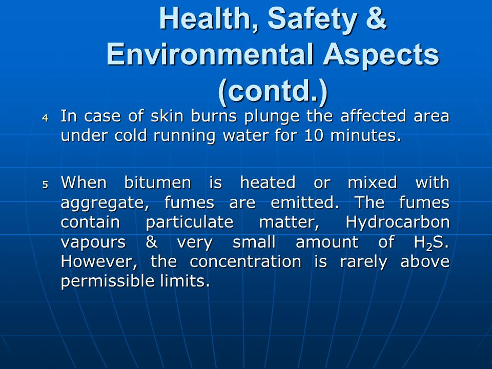 Health, Safety & Environmental Aspects (contd.)
