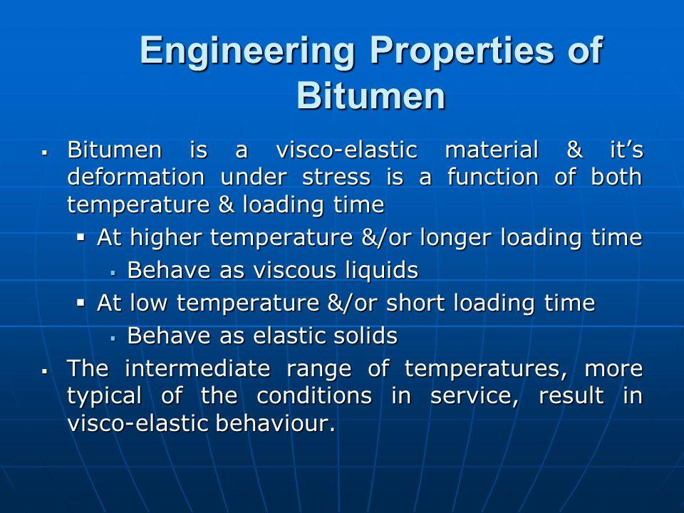 Engineering Properties of Bitumen