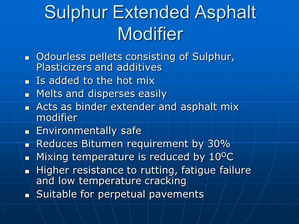 Sulphur Extended Asphalt Modifier