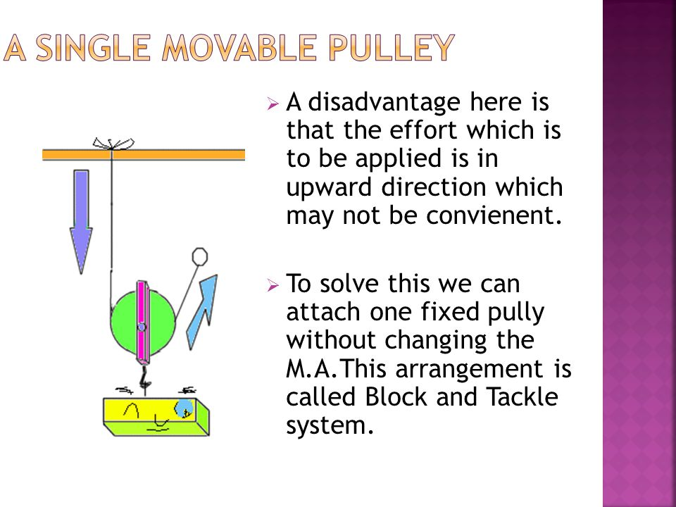 A single movable pulley