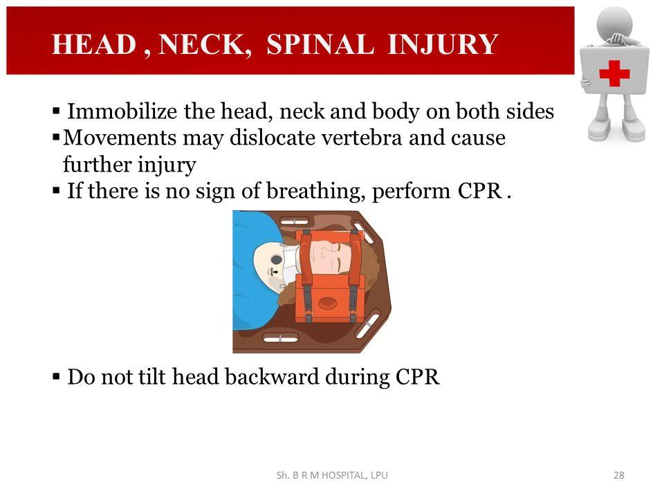 HEAD , NECK, SPINAL INJURY