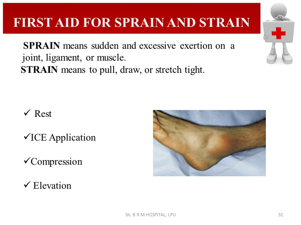 FIRST AID FOR SPRAIN AND STRAIN