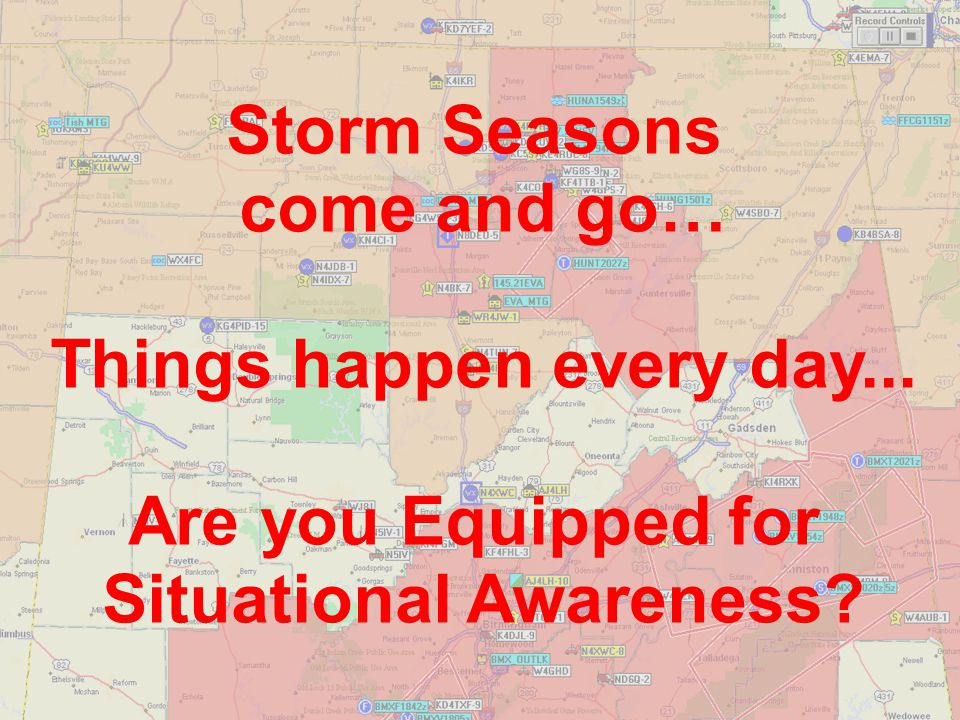 Things happen every day... Situational Awareness