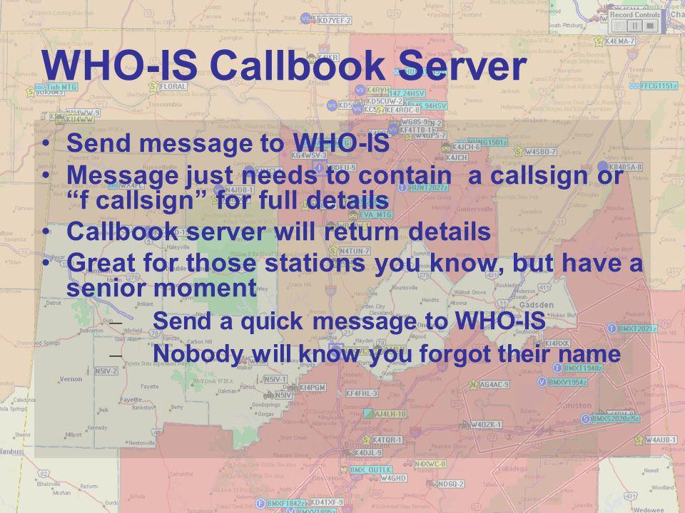 WHO-IS Callbook Server