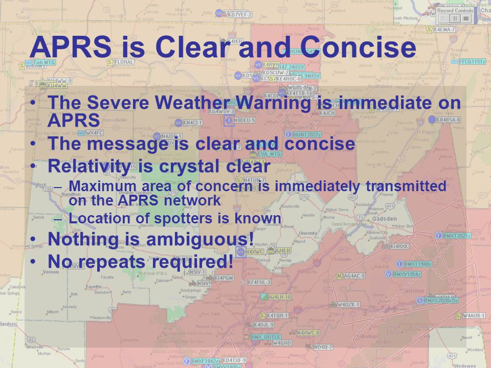 APRS is Clear and Concise