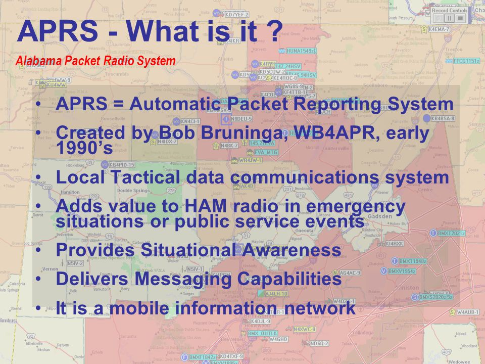 APRS - What is it APRS = Automatic Packet Reporting System