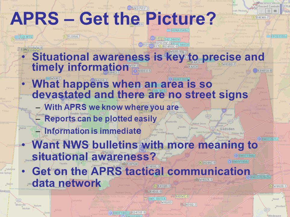 APRS – Get the Picture Situational awareness is key to precise and timely information.