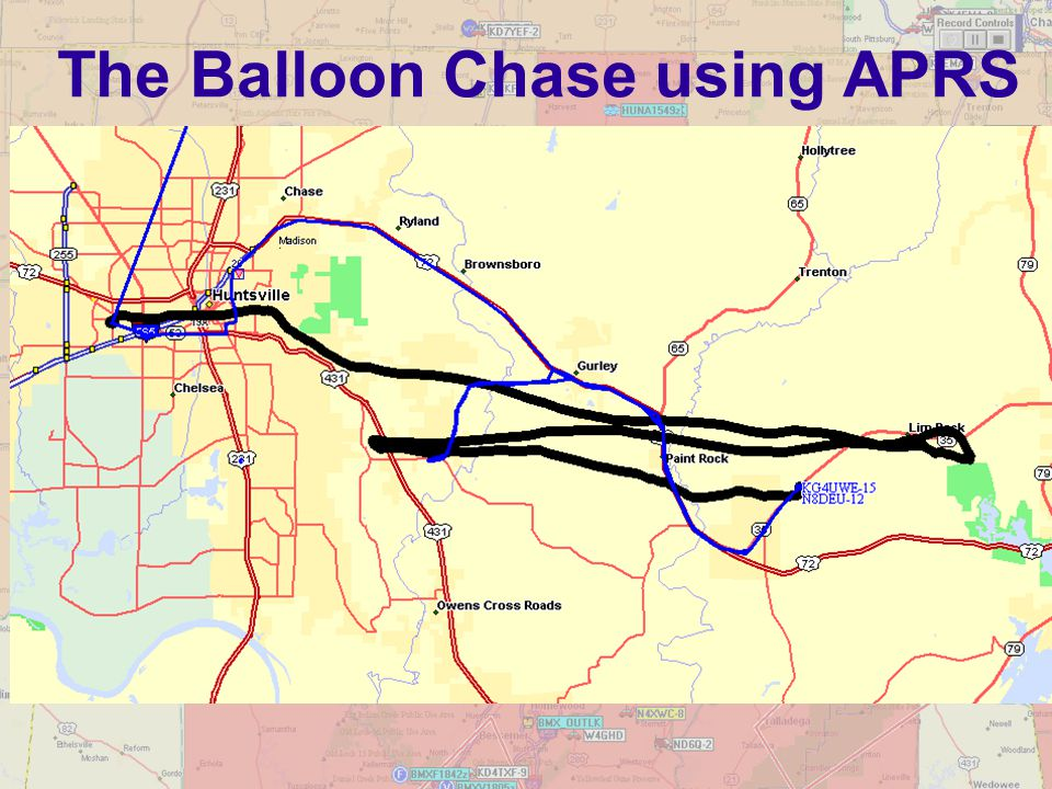The Balloon Chase using APRS
