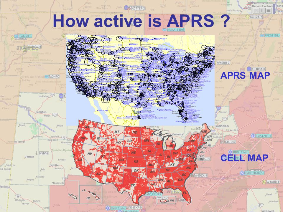 How active is APRS APRS MAP CELL MAP
