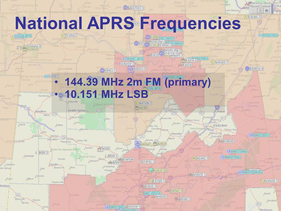 National APRS Frequencies
