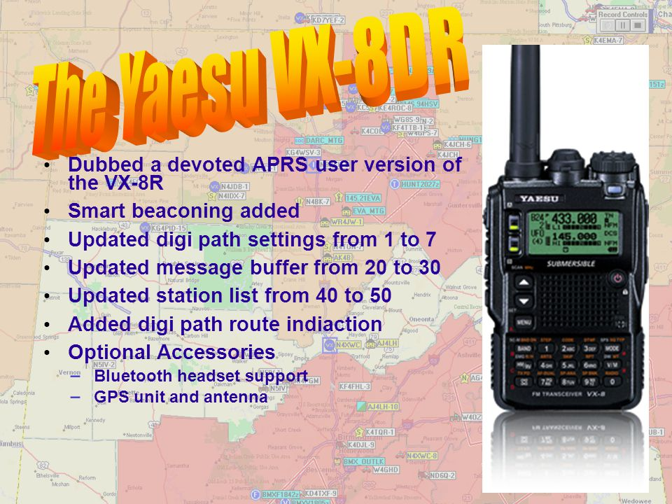 The Yaesu VX-8DR Dubbed a devoted APRS user version of the VX-8R