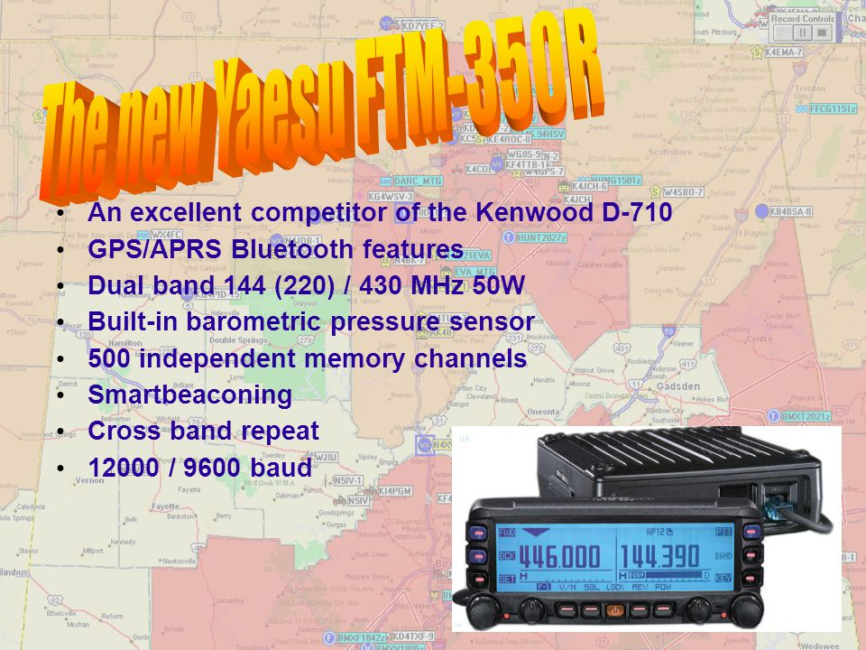 The new Yaesu FTM-350R An excellent competitor of the Kenwood D-710