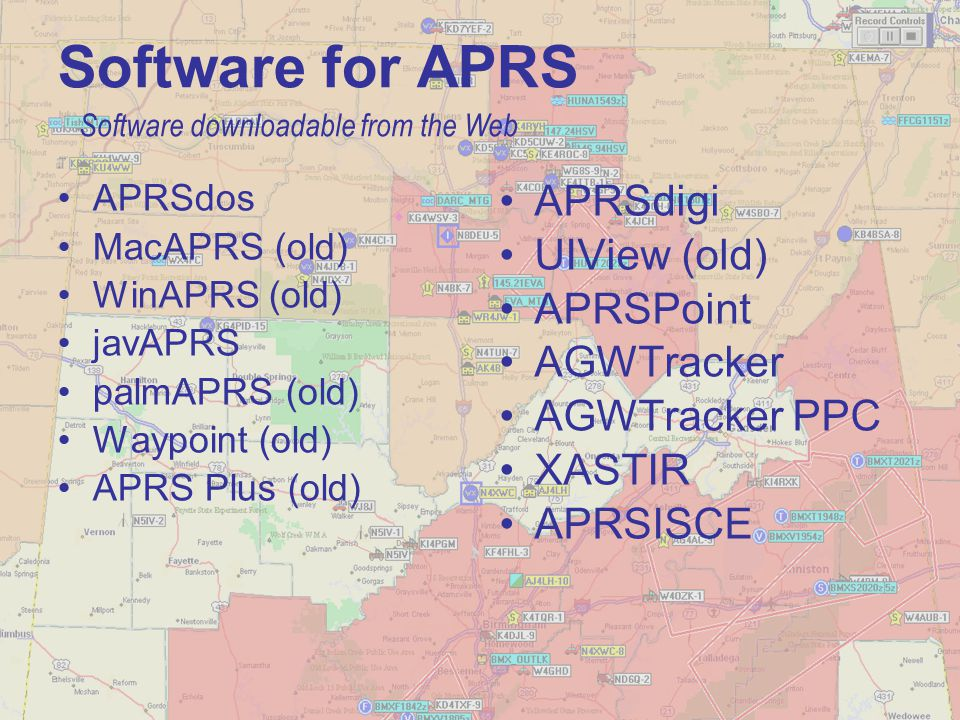 Software for APRS APRSdigi UIView (old) APRSPoint AGWTracker