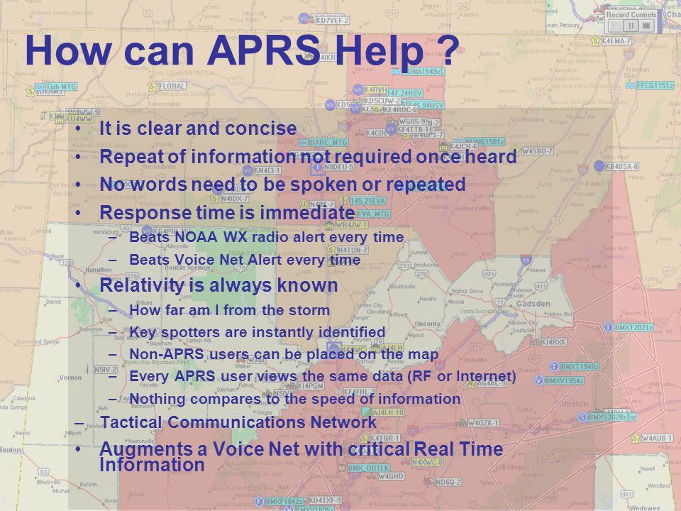 How can APRS Help It is clear and concise