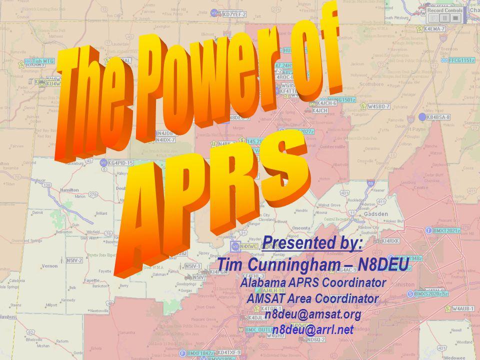 Alabama APRS Coordinator AMSAT Area Coordinator